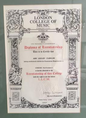 Ann Clewlow Certificate